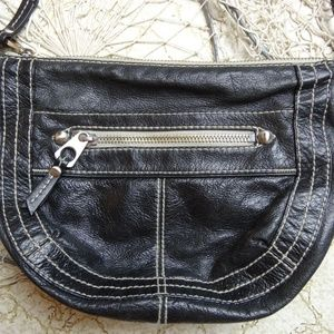 FOSSIL Black Leather Purse Shoulder Crossbody Bag